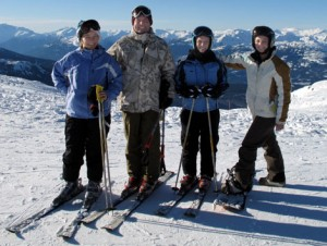 Doctor Roberts and Family Skiing